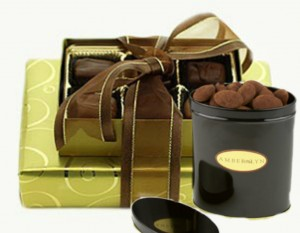 gift box and tin